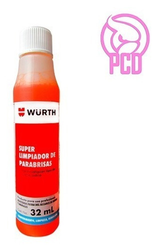 Imagen 1 de 4 de Wurth Super Limpiador Parabrisas Concentrado 32ml Limpia Vidrios - Pcd