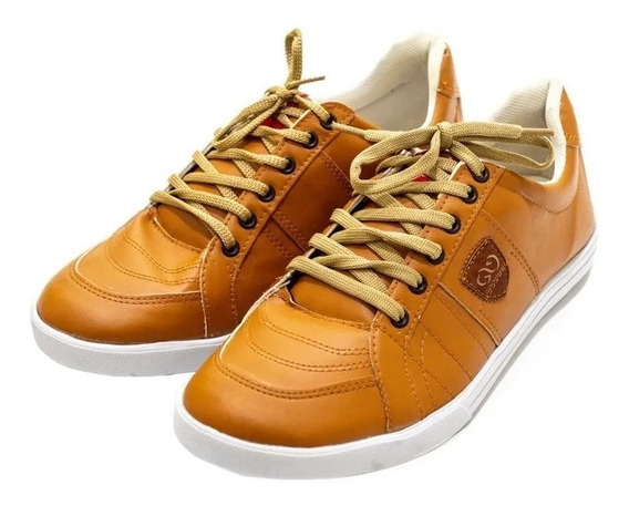 Zapato Hombre Zapatilla Urbana Base Goma Eco Cuero Hombre