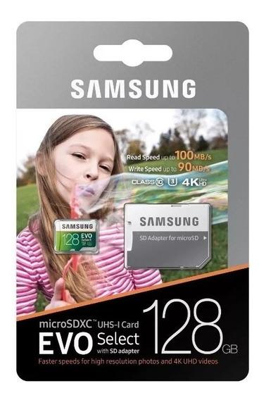 Cartão Micro Sd Samsung 100mb/s 128gb U3 4k Go Pro Drone
