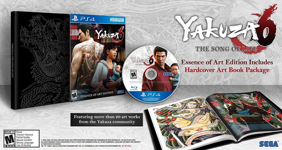 Yakuza 6 The Song Of Life Essence Of Art Edition Ps4 Lacrado