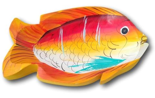 Gamela/travessa De Madeira Peixe Decoração Ref.0646