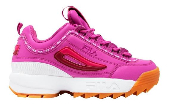Tenis Fila Disruptor Ii Premium - Rosa - Mujer