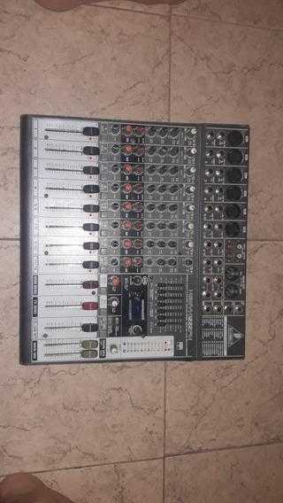 Consola Mezcladora Behringer Xenyx 1222 Recibo Tarjeta