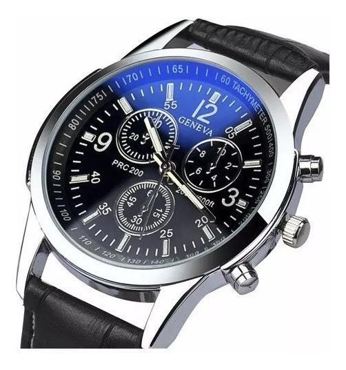 Relógio Luxo Masculino Geneva Pulso Social Pulseira Clássico