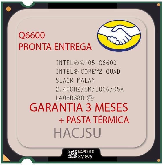 Processador Intel Q6600 775 + Pasta Térmica Sache 1 Grama