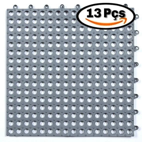 13 Pçs Tapete Estrado Emborrachado Modular 30x30