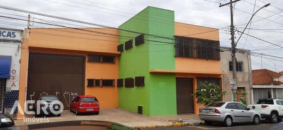 Barracão No Centro Com Excelente Localização, Próximo Ao Posto De Saúde Do Centro, Com Aproximadamente 400m² De Área Construida - Ba0154