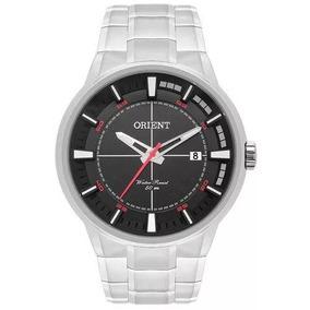 Relógio Orient Masculino Prata Visor Preto Mbss1308 P2sx