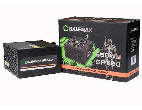 Fonte Gamer Gamemax Gp650 650w 80 Plus Bronze Com Cabo
