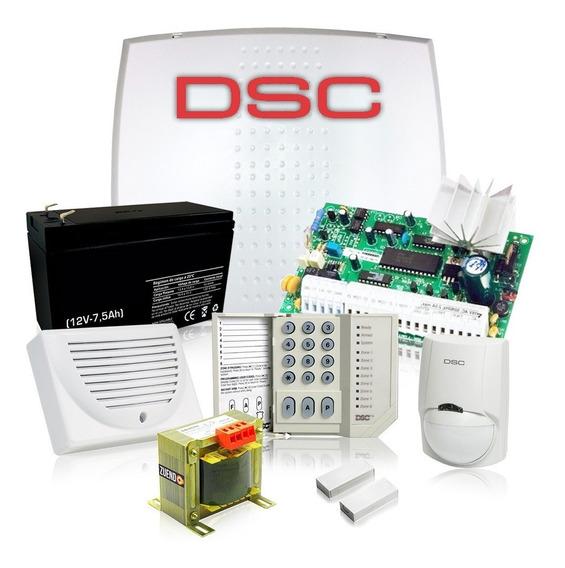 Kit Alarma Domiciliaria Dsc 585 Seguridad Llamador A Celular