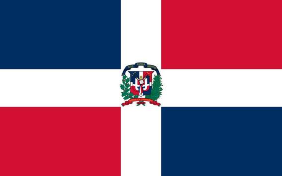 Placa Quadro Decorativo Da Bandeira Da República Dominicana