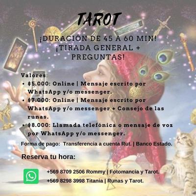 Lecturas De Tarot $5000 Oferta Preguntas A $500 Solo Por W
