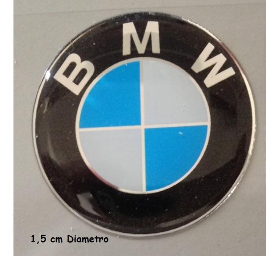 02 Adesivo S Bmw Resinado Motos Carros 1,5cm Diametro T3at