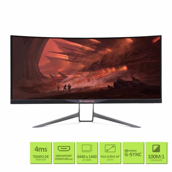 Monitor Gamer Acer Predator X34 34 Curvo Qhd 100hz G-sync