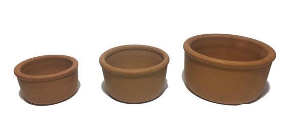 Kit Com 3 Unid. - Bebedouro Ou Comedouro Pássaros Cerâmica