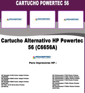 Cartucho Alternativo Negro Powertec C6656a - 56