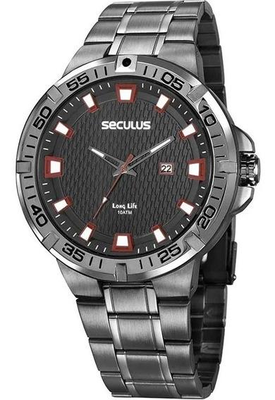 Relógio Seculus Masculino 20757gpsvsa2 Preto