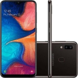 Samsung Galaxy A20 A205g/ds 32gb Tela 6.4 Preto Lacrado