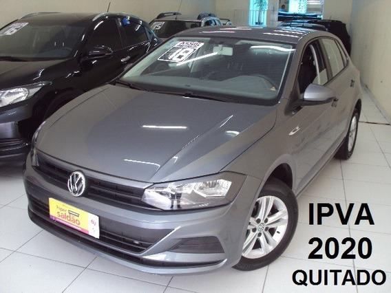 Volkswagen Polo 1.6 Msi Ano 2018 Cinza C/ 8 Mil Km