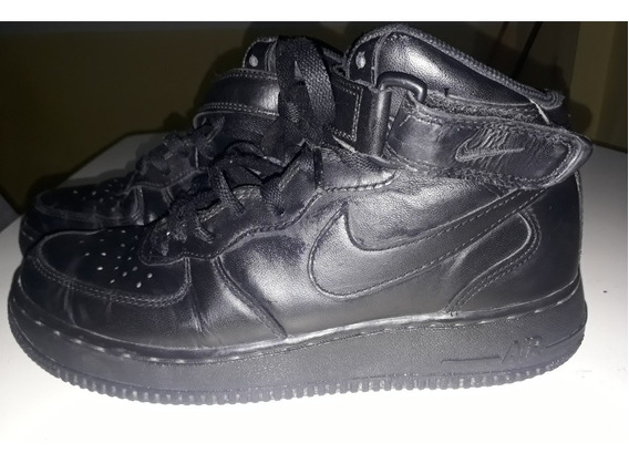 Nike Air Force Botitas Negras Buen Estado! N°40