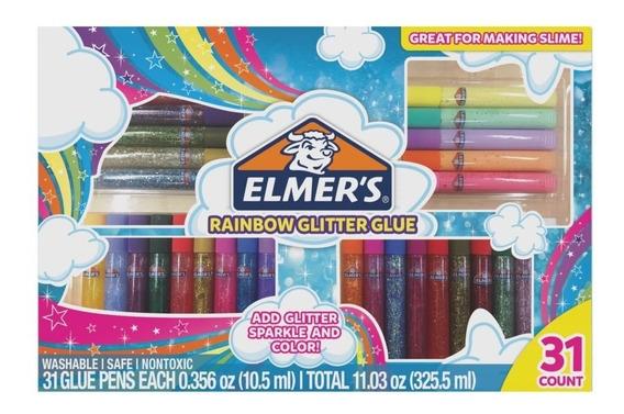 Elmers Kit 31 Piezas Tonos Pastel Glitter Adhesivo
