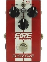 Pedal Overdrive - Fire Custom Shop