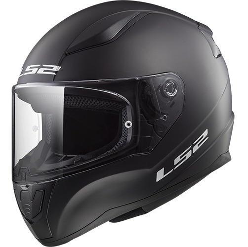 Casco Moto Ls2 Ff353 Rapid Solid Negro Brillo Mg Bikes