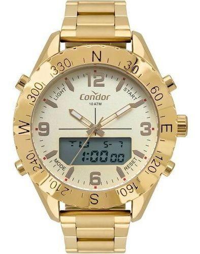 Relógio Masculino Dourado Condor Cobj3689ab/4x