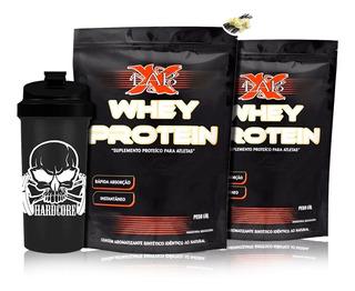 Kit Suplemento 2x Whey Protein Concentrado 900g+ Brinde-xlab