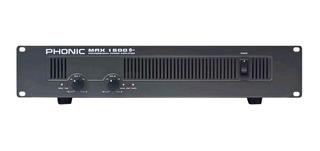 Potencia Amplificador Phonic Max1500 Plus 900w Rms - La Roca