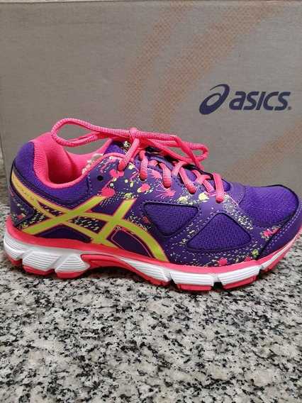 Tênis Asics Gel-light Play 3 A Gs Infantil - Roxo E Amarelo