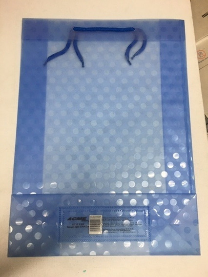 9pzas 32.4x44.5cm Bolsas De Regalo De Plastico Acme Colores