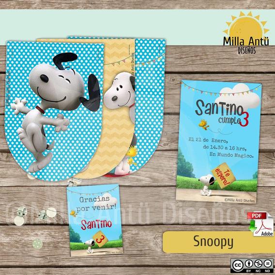 Kit Imprimible Deco Snoopy. Original Milla Antü