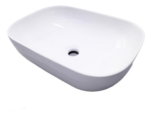 Imagen 1 de 5 de Bacha De Apoyo Blanca De Loza 46 X 33cm Porcelana Sanitaria