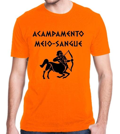 Camiseta Acampamento Meio Sangue Percy Jackson