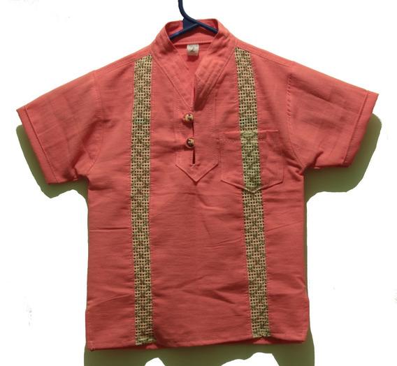 Camisa Artesanal De Manta Infantil/niños En Todas Las Tallas