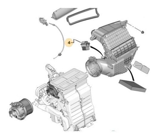 Comando Motor Climatización Peugeot 308 1.6 D