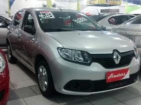 Renault Sandero 1.0 12v Authe. 2018 Aceito Troca E Financio