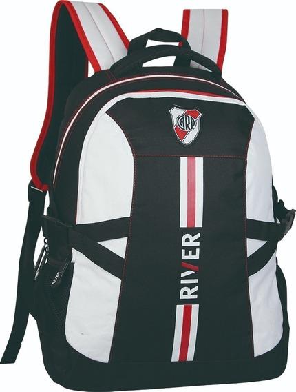 Mochila River Plate Con Red Original Licencia Bolso Cuotas