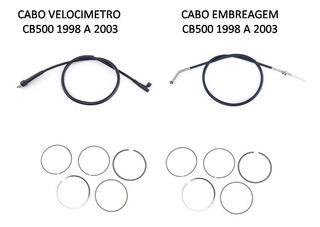Aneis Cb500 (par) + Cabos Embreagem E Velocimetro 97/2003
