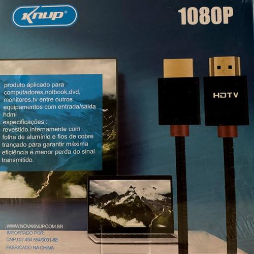 Cabo Hdmi 1080p Knup Kp-h5200 3m De 3 Metros