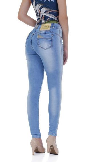 Calça Jeans Levanta Bumbum Zigma Brilho Azul
