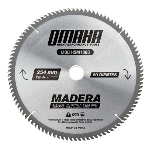 Hoja Sierra Disco Circular Madera 10'' 250mm 60d 254mm