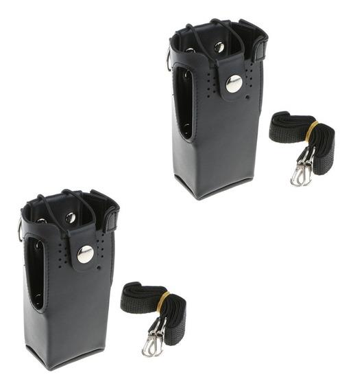 2pieces Pu Couro Caso Transportar Coldre Para Motorola Gp328