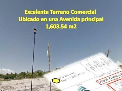 Terreno Plano Comercial En Esquina,sobre Av. Principal, Nueva Área Comercial.