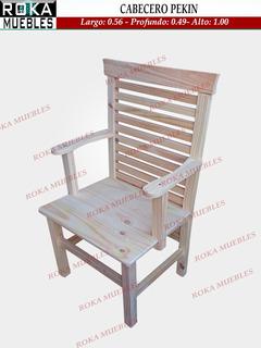Silla Sillon Cabecero Pekin Oriental Reforzado Pino Roka