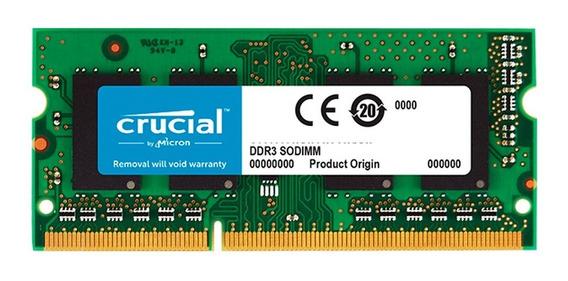 Memoria Sodimm 4gb Crucial Ddr3 1600mhz Notebook Mexx 4