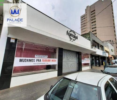 Imagem 1 de 8 de Salão Para Alugar, 482 M² Por R$ 25.000,00/mês - Centro - Piracicaba/sp - Sl0149