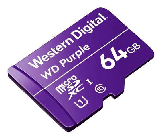 Cartão De Memória Micro Sd 64 Gb Wd Purple - Uso Em Câmera