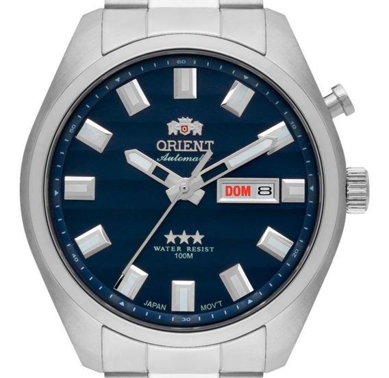 Relogio Orient Automatico Masculino Azul 3 Estrelas 469ss076